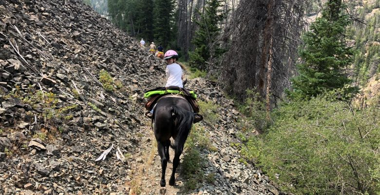 Guided pack trips for the entire family in Wyoming with camping and horseback riding