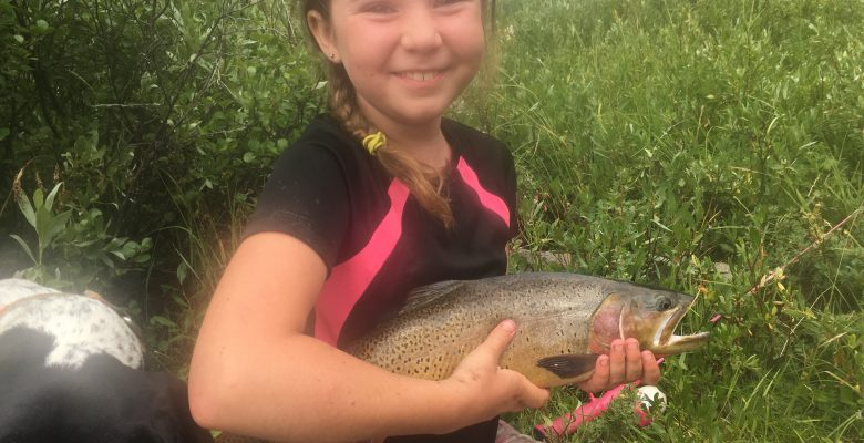 Guided cutthroat fishing trips in Yellowstone, Wyoming, and Shoshone forest camping areas