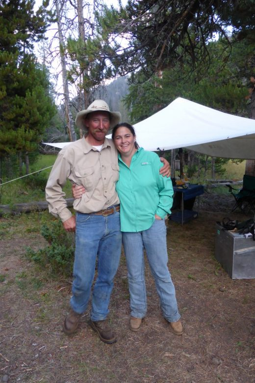 Scott LaFevers and Mandy LaFevers with 307 Outfitters in Cody Wyoming