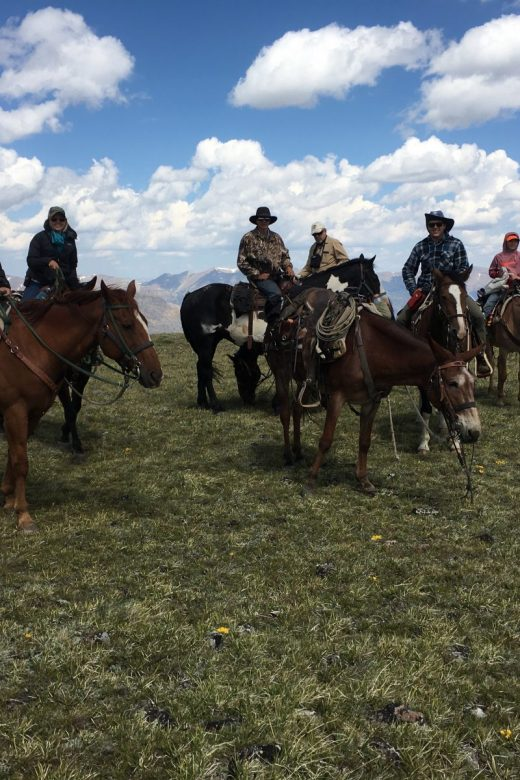 Day ride on a progressive pack trip Shoshone Plateau